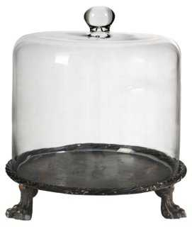 """14"""" Footed Glass Cloche, - One Kings Lane"""