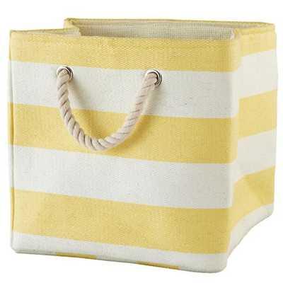 Yellow Stripes Around the Cube Bin - Land of Nod