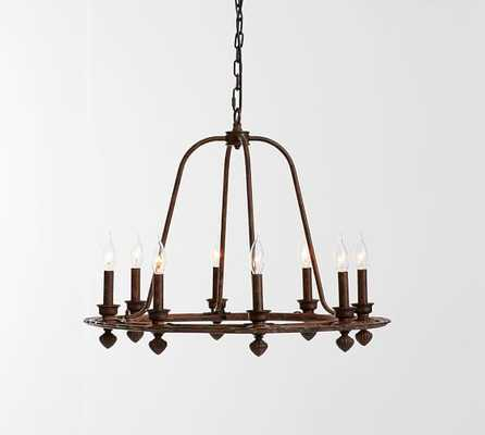 Ornate Iron Ring Chandelier - Pottery Barn