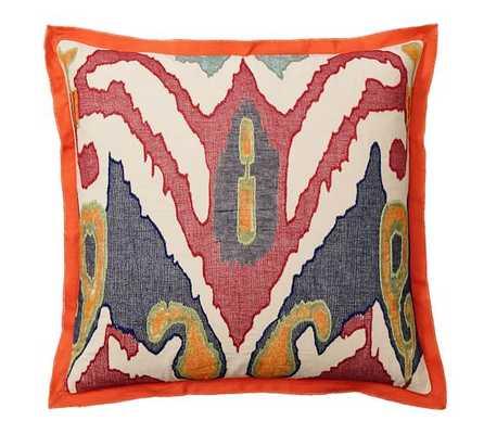 Lafayette Ikat Pillow Cover - Pottery Barn