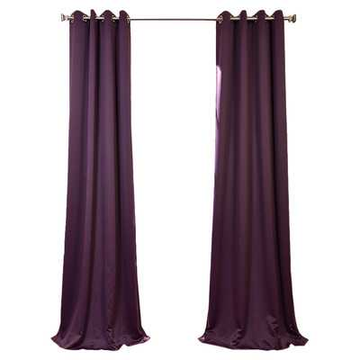 Plush Grommet Blackout Curtain Pair - Wayfair
