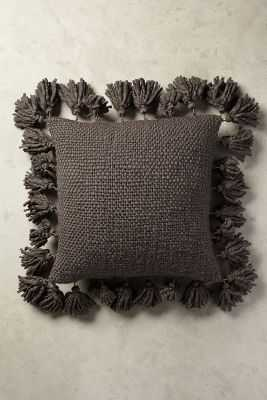 "Knitted Tassel Pillow - 18"" x 18"" - with insert - Anthropologie"