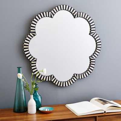 Bone Inlay Wall Mirror - Flower - Society6