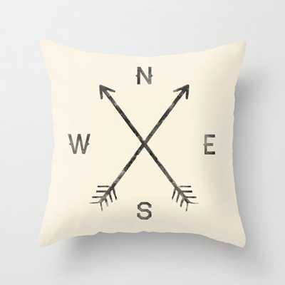 "Compass (Natural) - 18""Sq. - Insert Included - Society6"