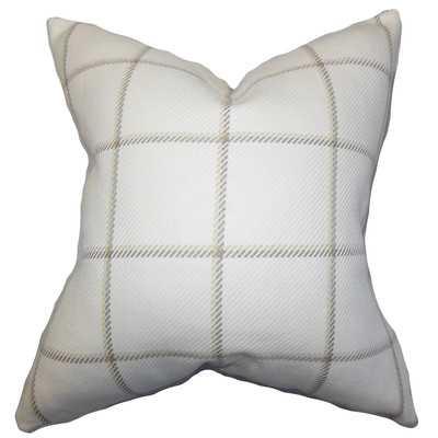 Temples Plaid Cotton Throw Pillow - Wayfair