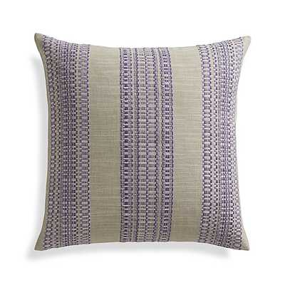 "Dabney Grape Purple 20"" Pillow with Feather-Down Insert - Crate and Barrel"