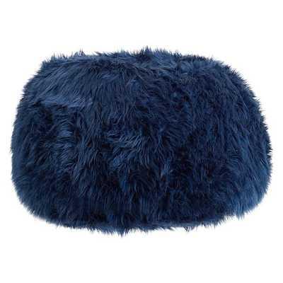 Navy Fur-Rific Slipcover + Beanbag Insert - Small - Pottery Barn Teen