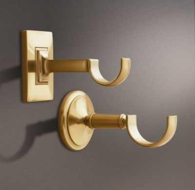 ESTATE CENTER BRACKET - BRASS - RH