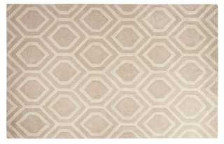 5'x8' Louisa Rug, Taupe/Ivory - One Kings Lane