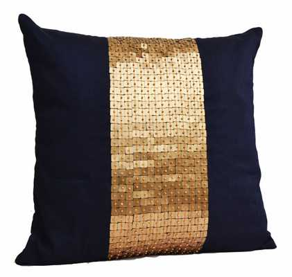 Throw Pillows - Navy Blue gold - 16X16 - Insert sold separately - Etsy