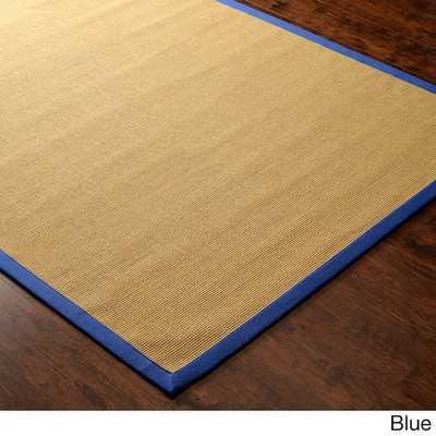 Handmade Alexa Eco Natural Fiber Cotton Border Jute Rug (8' x 10') - Overstock