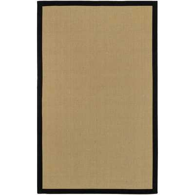 Woven Town Chocolate Sisal with Cotton Border Rug (8'x10') - Overstock