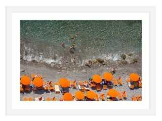 "Judith Gigliotti, Bright Orange- 40"" x28""- Framed - One Kings Lane"