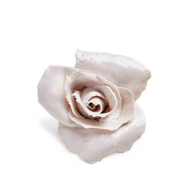 Valerie casado white glazed porcelain rose - ABC Home and Carpet