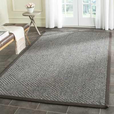 Safavieh Hand-woven Natural Fiber Grey/ Dark Grey Jute Rug (9' x 12') - Overstock