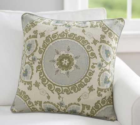 Vine Suzani Embroidered Pillow Cover - 20x20 - Insert Sold Separately - Pottery Barn