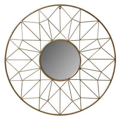 Renata Metal Wall Mirror - Gold - Wayfair