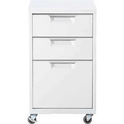 TPS white file cabinet - CB2