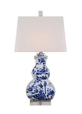 Blue and White Floral Gourd Lamp - Society Social