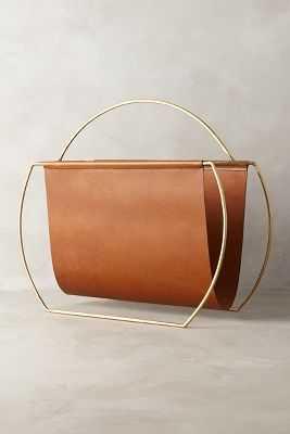 Saddle Ring Desk Collection - Magazine Rack - Brown - Anthropologie