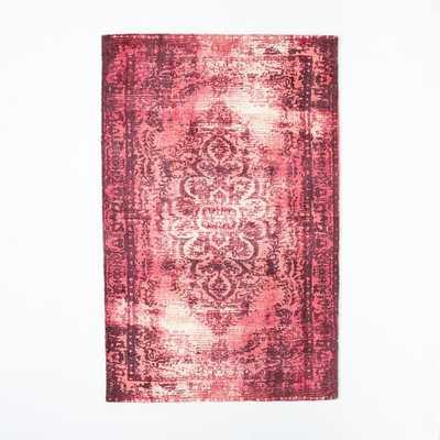 Distressed Arabesque Wool Rug - Shockwave - 5' x 8' - West Elm