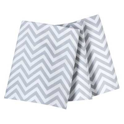 "Single Pleated Cotton Crib Skirt - Circoâ""¢ - Chevron grey - Target"