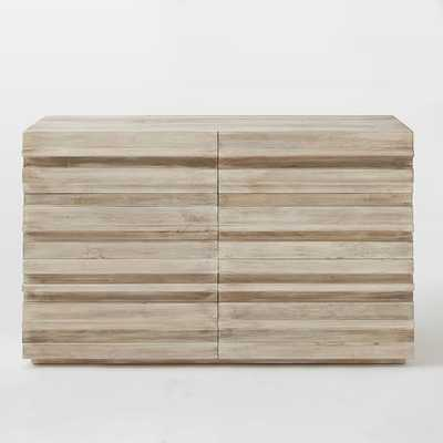 Stria 6-Drawer Dresser - Cerused White - West Elm