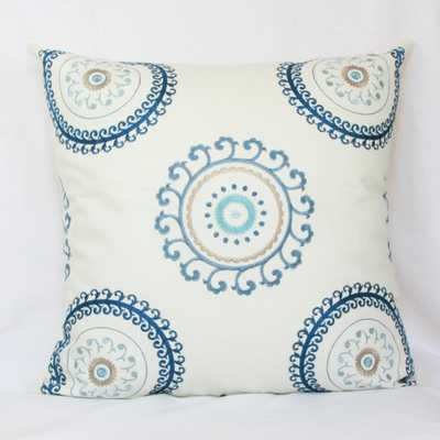 Embroidered suzani decorative throw pillow - 26x26, No Insert - Etsy