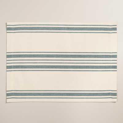 Blue Villa Stripe Placemats, Set of 4 - World Market/Cost Plus