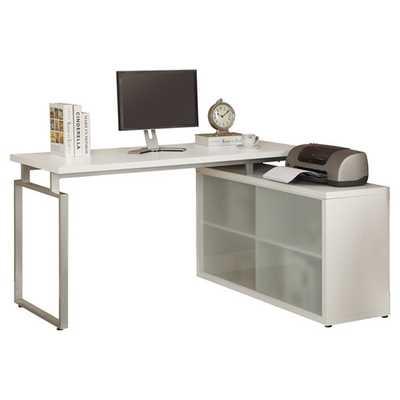 Kelsey L-Shaped Writing Desk  - White - AllModern