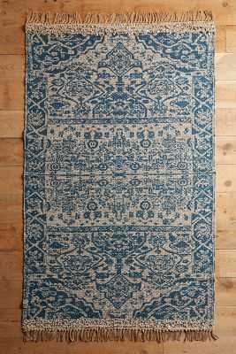 Alondra Rug - 5 x 8 - Blue & Grey - Anthropologie