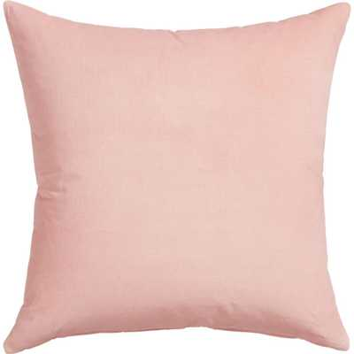 "Leisure blush pillow- 23""Wx23""H - Pink -With insert - CB2"