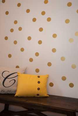 "Metallic Gold Circles, Vinyl Wall Decal - 2.5"" - Etsy"