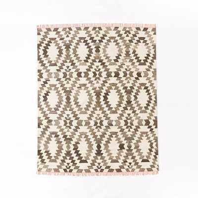 Palmette Chenille Wool Kilim Rug - West Elm