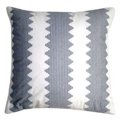 Nate Berkus Gray Embroidered Pillow - With insert - Domino