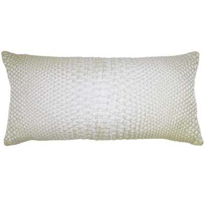 """Square Feathers Home Ubud 12"""" x 24"""" Metallic Pillow- Feather Down Insert - Candelabra"""