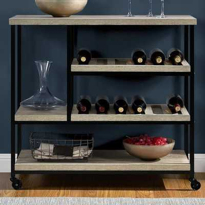 Altra Elmwood Kitchen Cart with Wooden Top by Altra - AllModern