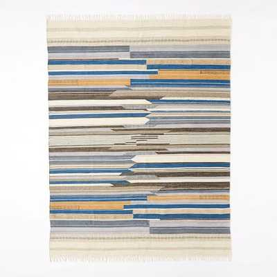 Mixed Stripe Wool Dhurrie - West Elm
