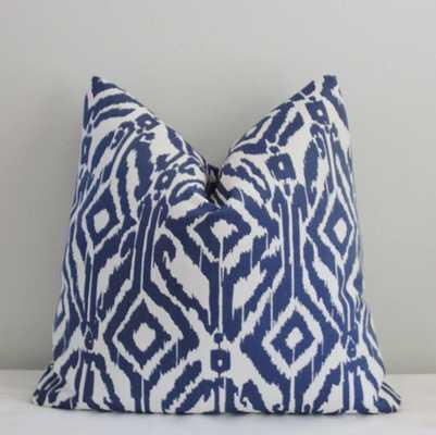 "Indigo Ikat Decorative Pillow Cover - 20"" - no insert - Etsy"
