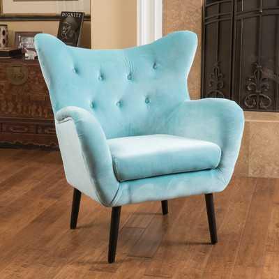 Laura Arm Chair-Aqua Green - Wayfair