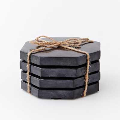 Stone Octagonal Coasters (Set of 4) - West Elm