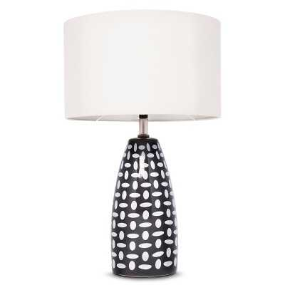 Charcoal Gray Ceramic Lamp - Target