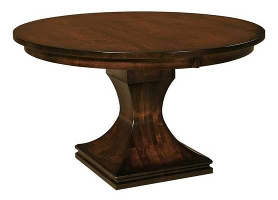Amish Westin Single Pedestal Dining Table - 1st Dibs