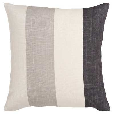 """Eversley Pillow, 22"""" x 22"""", Charcoal, Polyester  fill - Target"""
