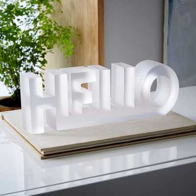 Large Block Word Object - Hello - West Elm