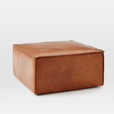 Leather Ottoman - Large - West Elm