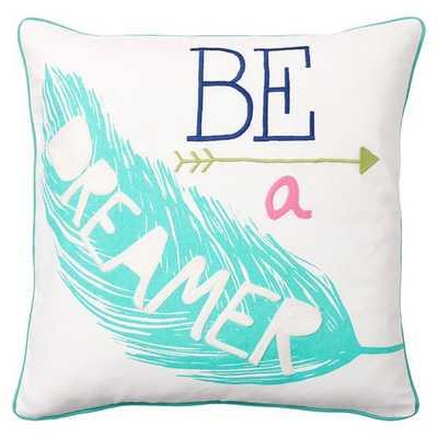Coastal Inspiration Pillow Cover - Dreamer, 18x18, No Insert - Pottery Barn Teen
