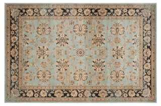 "5'1""x7'7"" Maksym Rug, Light Blue/Black - One Kings Lane"