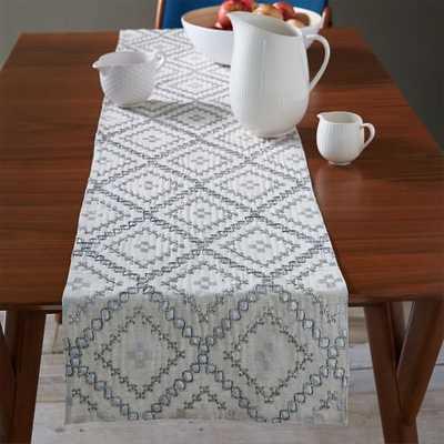Embellished Diamond Table Runner - West Elm