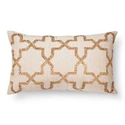 Persian Star Beaded Toss Pillow - Target